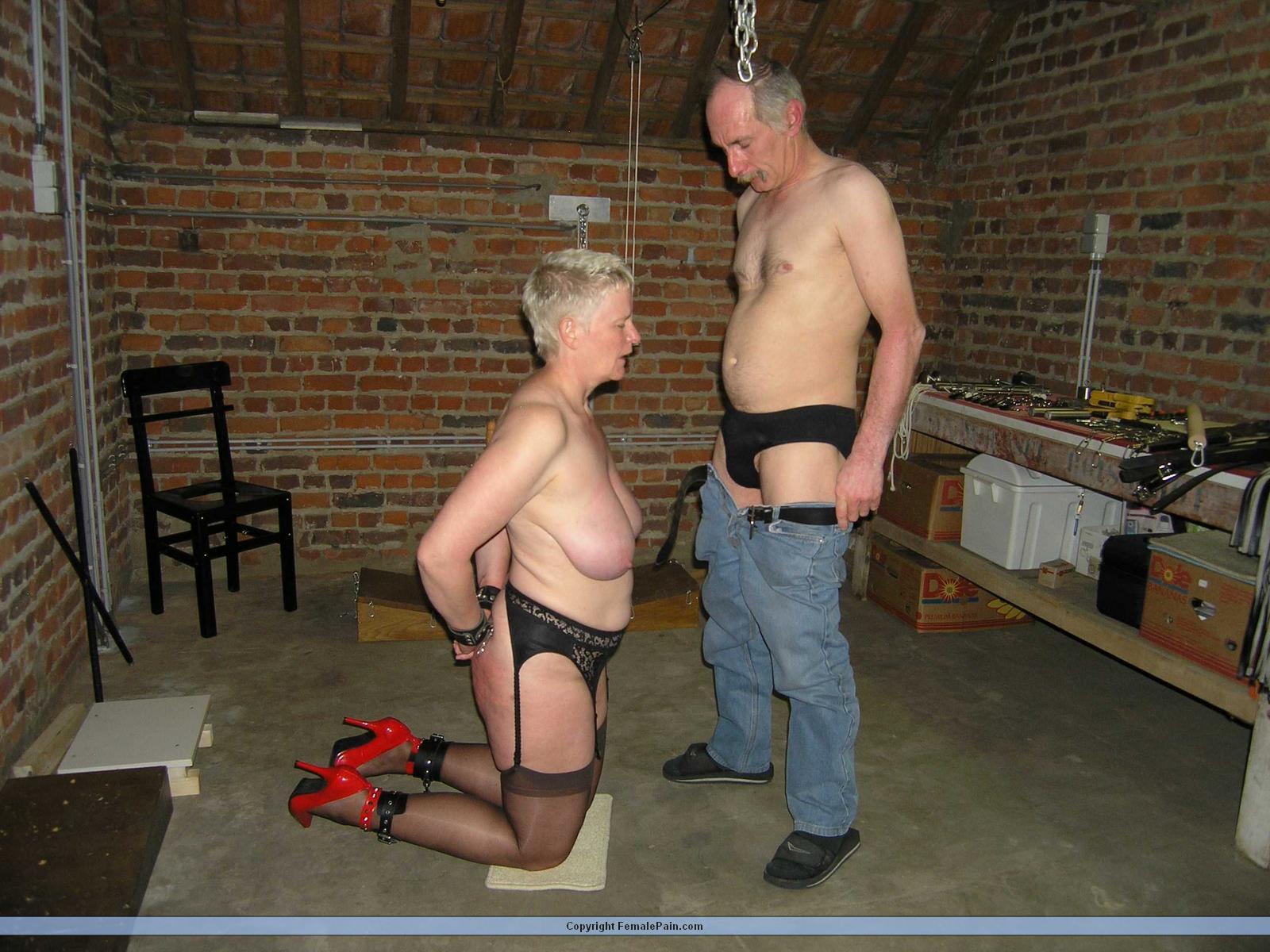 amateur slave bondage blowjob